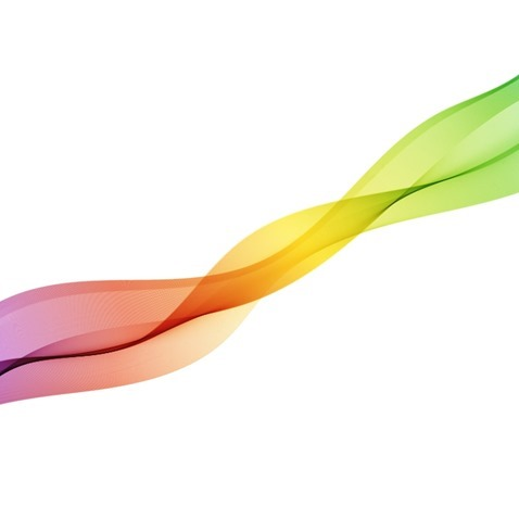 Abstract Motion Smooth Color Wave Vector