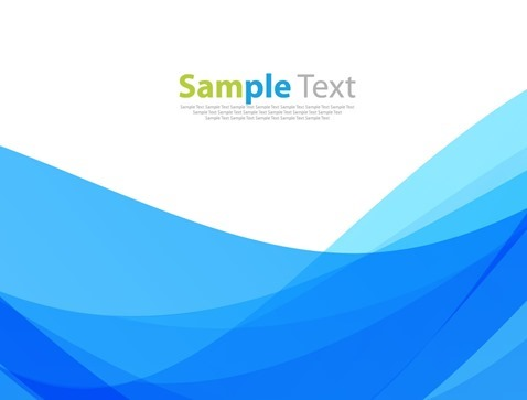 Blue Waves Abstract Vector Background Template