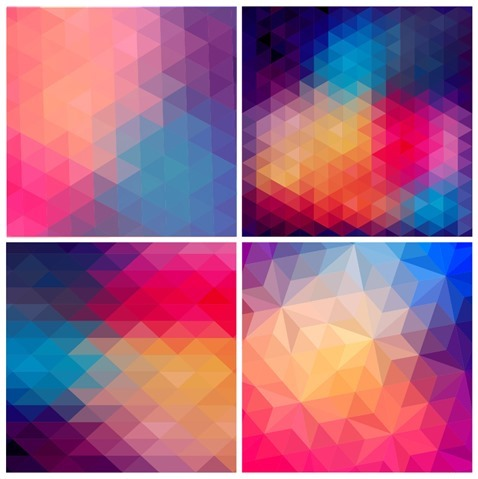 Low Poly Abstract Background Vector Set