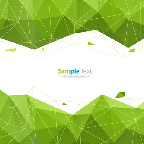 Abstract Geometry Green Background Vector Graphic