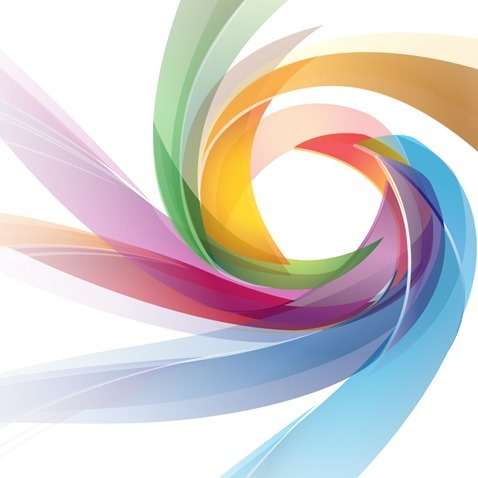Abstract Color Vortex Background Vector Graphic