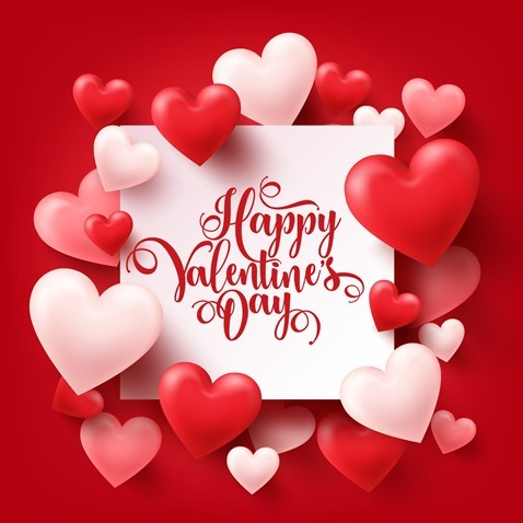Valentine's Day Poster Vector Graphic