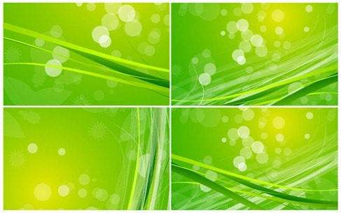 Abstract Green Nature Background Vector Set