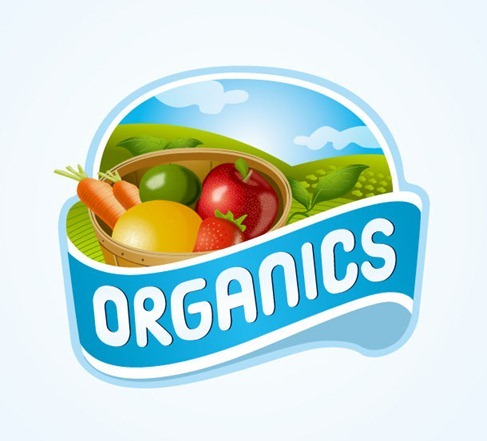 Organics Logo Vector Design
