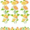 Flowers, fruit and butterfly lace Vector material