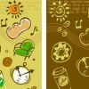Lovely background series vector material 4