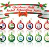Free Early Christmas Social Networking Vector Icons