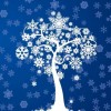 Free Winter Tree Card Vector Graphic
