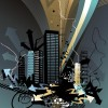 The Trend of City Building Vector Material