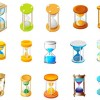 15 Free Vector hourglass