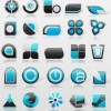 Free bule-black dock icon set