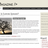 Free Magazine Style Website Template