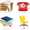 4 Office Related Vector Icons