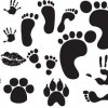 Free Foot,Hand,Lips Print Vectors