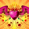 Free Vector Graphic &#8211; Winged Heart