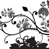 Black Floral Vector