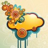 Free Colorful Cloud Vector Graphic