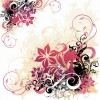 Swirl and Flower Background Free Vector Graphic
