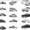 Free Various Vintage Car Vector Collection