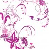 Free Vector Graphic – Purple Swirls and Flowers