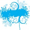Blue Floral Vector Graphic