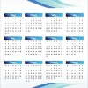 Printable 2011 Calendar Vector