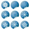 Snowflake Winter Set Vector