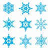 Free Snowflakes Vector Set