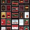 Christmas Stamps Vector Collection
