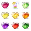 Free Fruity Hearts Icons