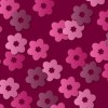 Pink Retro Floral Vector Pattern