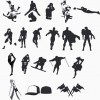 High Quality Sport and Hero Silhouettes Collection – Vector