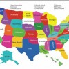 Free Colorful USA Map With States Vector