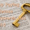 Top Paying Adsense Keywords List 2010