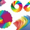 Paper of Different Colors Vector Graphic