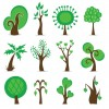 Tree Symbols Vector Graphic