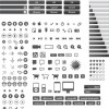Small Vector Icons and Buttons for Web Design