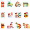 Vector Shop Building Icon Set