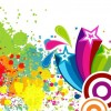 Abscract Colorful Spots Background Vector Art