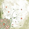 Vintage Swirl Floral Background Vector