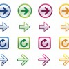 Colorful Arrows Vector Set