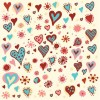 Valentine&#8217;s Day Hearts Pattern Vector Graphic