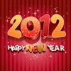 2012 Happy New Year Vector Illustration