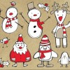 Free Santa Claus Vector Illustration Collection