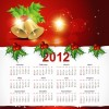 Christmas Style 2012 Calendar Vector Graphic