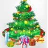 Free Christmas Tree and Gift Boxes Vector Graphic