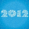 New Year 2012 Made of Snowflakes Vector Graphic