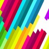 Colorful Diagonal Stripe Vector Pattern