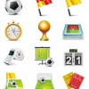 Football Match Vector Icon Set