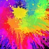 Colourful Bright Ink Splat Design Vector